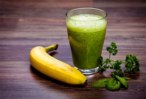 green smoothie with whole foods and banana