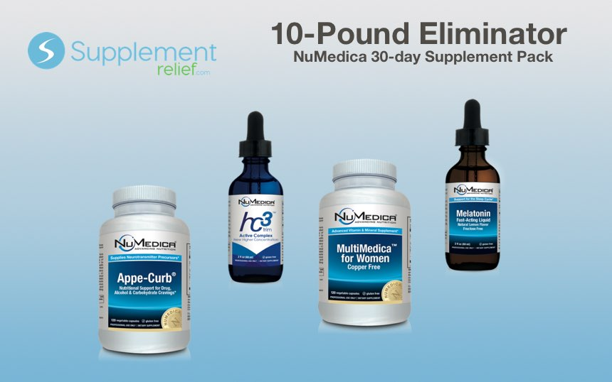 10-Pound Eliminator NuMedica Supplement Pack - 30 day