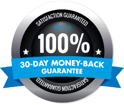 30-day, no questions asked, money-back guarantee for all First Fitness Nutrition supplements