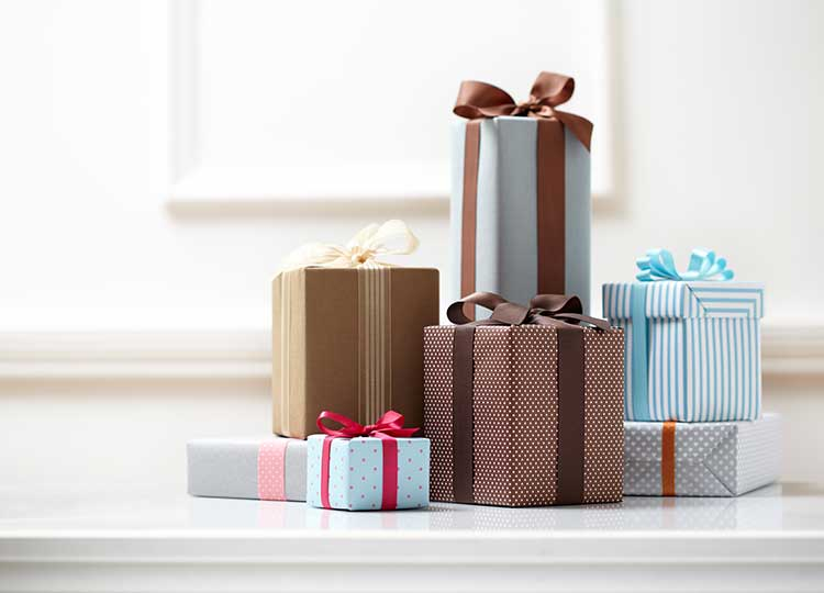 Assorted Gifts Wrapped with Bows
