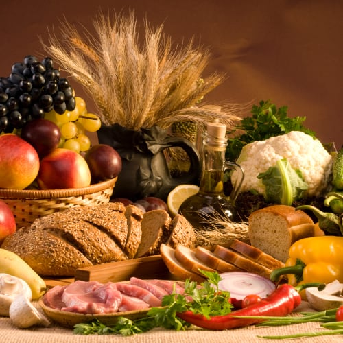an assortment of fresh, healthy foods suitable for inclusion in a rotation diet