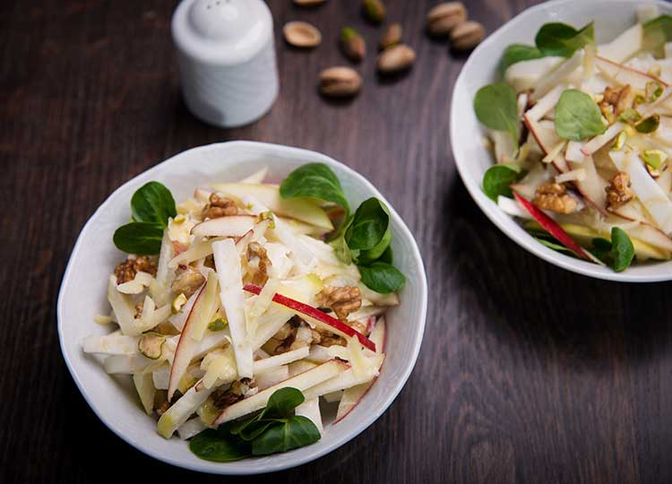 Balsamic Waldorf salad recipe image