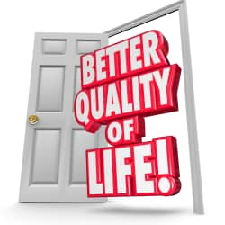 open door that reads Better Quality of Life!