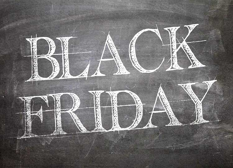 black friday written on chalkboard