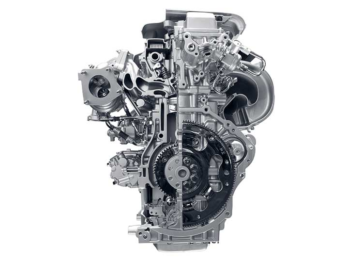 a car engine is isolated on a white background