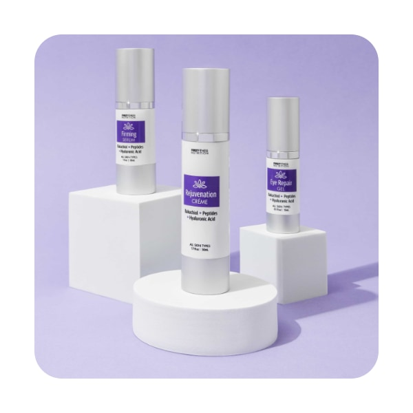 First Fitness Anti-Aging System skin care products - Rejuvenation Creme, Firming Serum, Eye Repair Gel