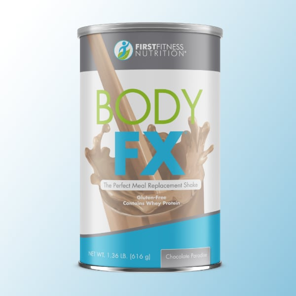 First Fitness Body FX meal replacement shakes contain protein, essential vitamins and minerals