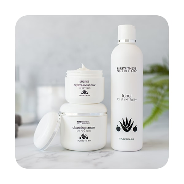 First Fitness Nutrition Essential Trio - Dry Skin skin care product