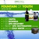 try the first fitness recipe Fountain of Youth which contains Biomega, Zavita, SPN Energy and SPN Rehydrate.