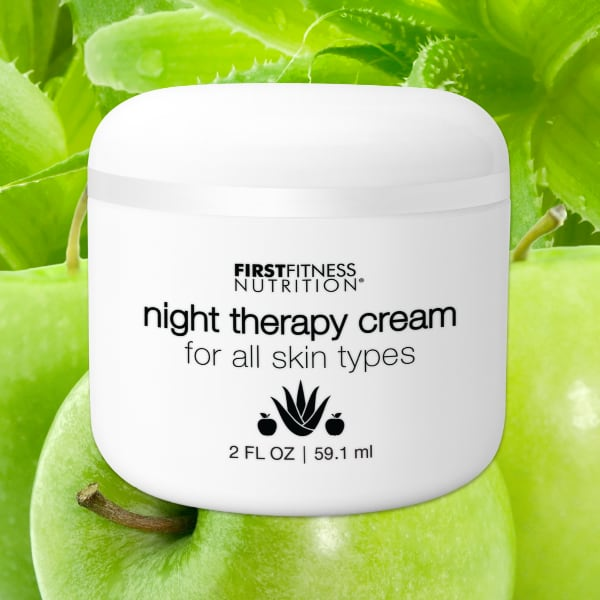 FirstFitness Nutrition Night Therapy Cream - All Skin Types - 2 fl oz skin and body care product