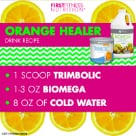 first fitness Trimbolic and Biomega combined make for a very refreshing, healthy beverage.