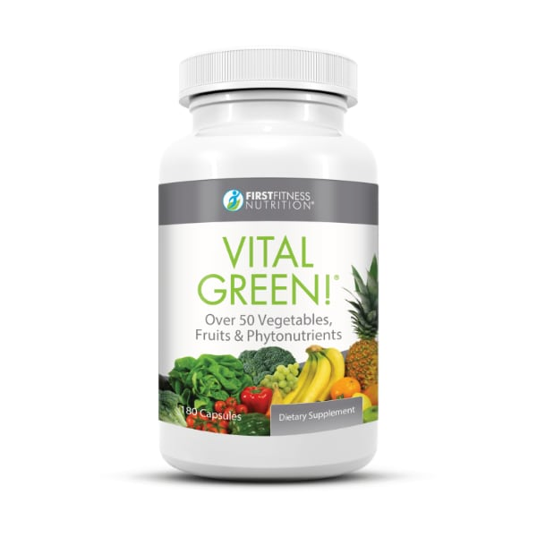 First Fitness Nutrition Vital Green - 180 vegetarian capsules dietary supplement