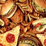 fast foods that are fried and saturated with unhealthy fat and oils