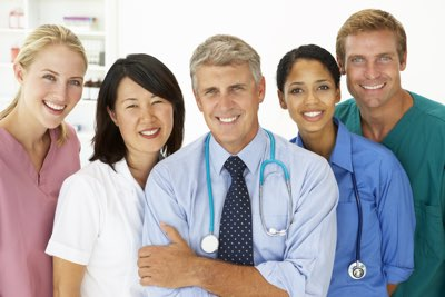 illustration of a team of NuMedica healthcare providers smiling.