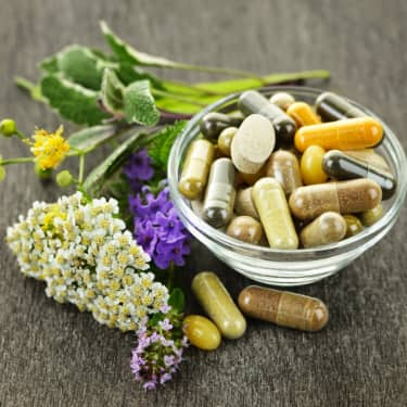 several types of supplements and natural herbs