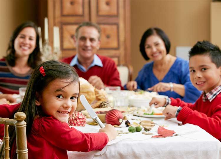 Hispanic Family Eating Together
