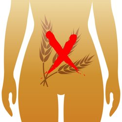 lower female abdomen depicting celiac disease