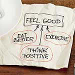 napkin with feel good strategy