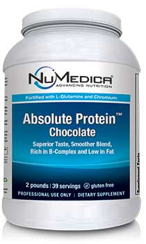 NuMedica Absolute Protein Chocolate 39 serving canister