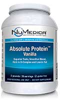 NuMedica Absolute Protein Vanilla - 39 svgs professional-grade supplement