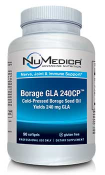 NuMedica Borage GLA 240CP - 90 sfgl professional-grade supplement