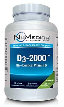 NuMedica D3-2000 - 120 sfgl professional-grade supplement