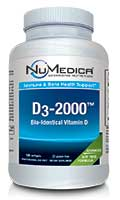 NuMedica D3-2000 - 120 sfgl professional-grade supplement