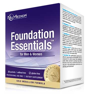 NuMedica Foundation Essentials + CoQ10 + MCHC (no iron) - 30 packs professional-grade supplement