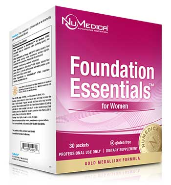 NuMedica Foundation Essentials Women + CoQ10 - 30 packs professional-grade supplement
