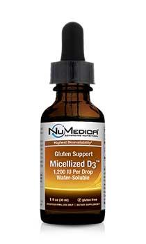 NuMedica GS Micellized D3 1200 IU - 1 fl oz professional-grade supplement