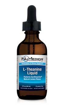 NuMedica L-Theanine Liquid - Natural Lemon - 2 fl. oz. professional-grade supplement