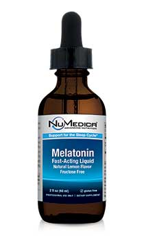 NuMedica Melatonin Liquid - Lemon Flavor - 2 fl. oz professional-grade supplement