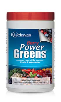 NuMedica Power Greens Berry 30 serving canister