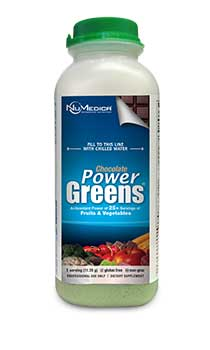 NuMedica Power Greens Chocolate single serving
