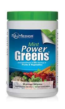 NuMedica Power Greens Mint - 30 svgs professional-grade supplement