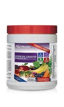 NuMedica Power Greens Premium Berry - 21 svgs professional-grade supplement