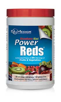 NuMedica Power Reds Strawberry Kiwi - 30 svgs professional-grade supplement
