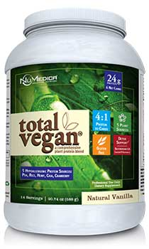 NuMedica Total Vegan Protein Vanilla - 14 svgs professional-grade supplement