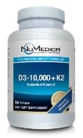 NuMedica D3-10,000 + K2 - 60 softgels dietary supplement