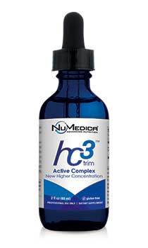 NuMedica hc3 Trim Active Complex - 2 fl oz professional-grade supplement