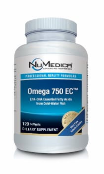 NuMedica Omega 750 USP EC - 120 sfgl professional-grade supplement
