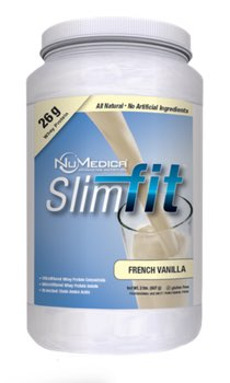 NuMedica SlimFit Protein Vanilla 22 serving canister