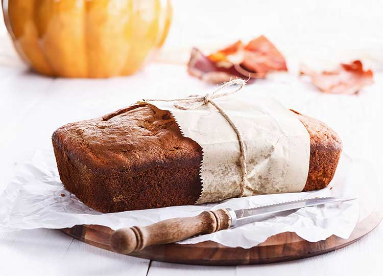 Pumpkin Bread with Wheat Flour & Low Sugar