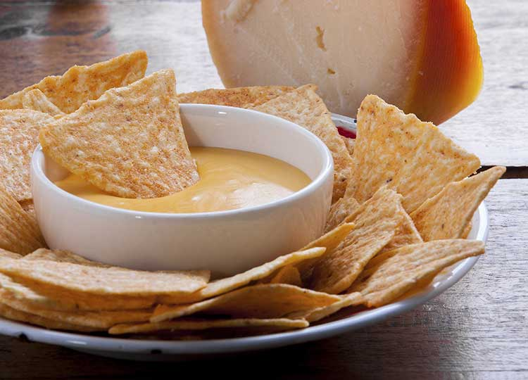 Smokey Cheese Dip with Tortilla Chips recipe