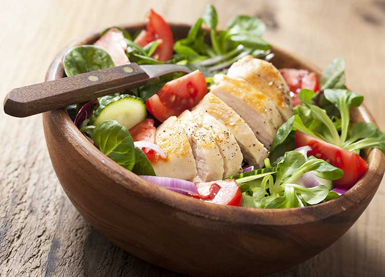 Spinach chicken Salad recipe image