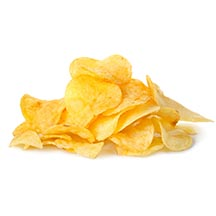 Pile of potato chips.