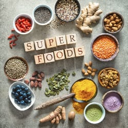 collection of superfoods