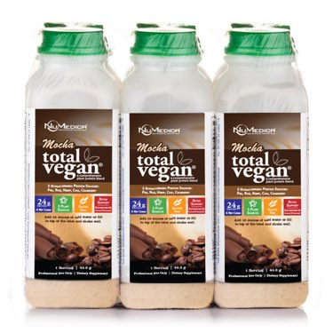 NuMedica Total Vegan Protein Mocha 6-Pack - 6 plastic bottles