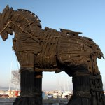 large wooden Trojan Horse