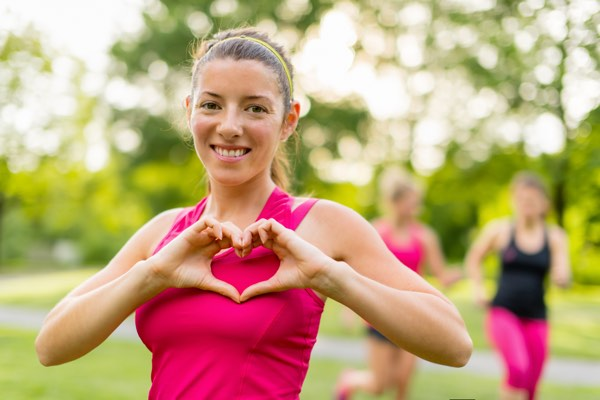 female jogger exercising for heart health